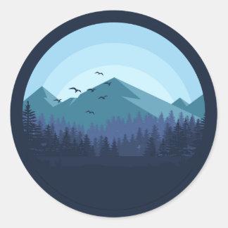 Snowy Mountain Landscape sticker