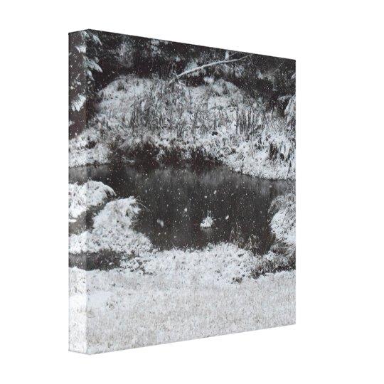 Snowy Mountain Morning Canvas Print
