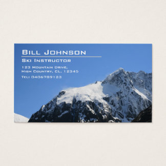 Snowy Mountain Photograph - Business Card
