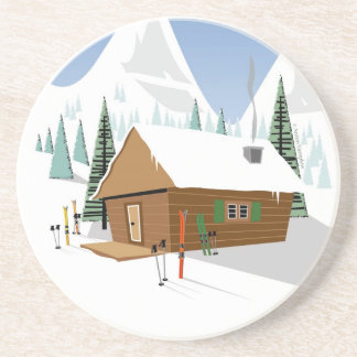 Snowy Mountain Ski Hut Coaster