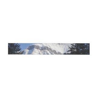 Snowy Mountain Wraparound Address Label