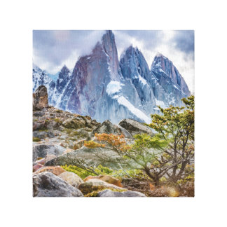 Snowy Mountains at Laguna Torre El Chalten Argenti Canvas Print