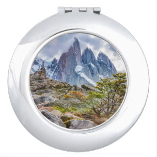Snowy Mountains at Laguna Torre El Chalten Argenti Compact Mirrors