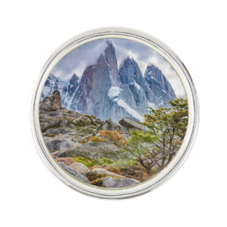 Snowy Mountains at Laguna Torre El Chalten Argenti Lapel Pin
