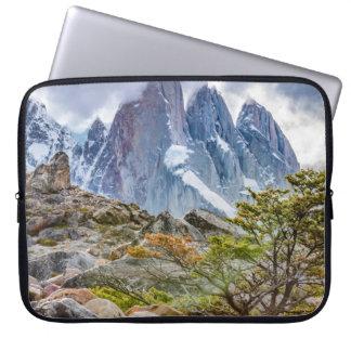 Snowy Mountains at Laguna Torre El Chalten Argenti Laptop Sleeves