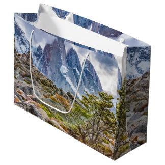 Snowy Mountains at Laguna Torre El Chalten Argenti Large Gift Bag