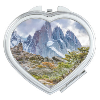 Snowy Mountains at Laguna Torre El Chalten Argenti Makeup Mirror