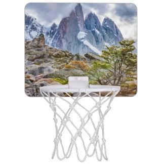 Snowy Mountains at Laguna Torre El Chalten Argenti Mini Basketball Hoop