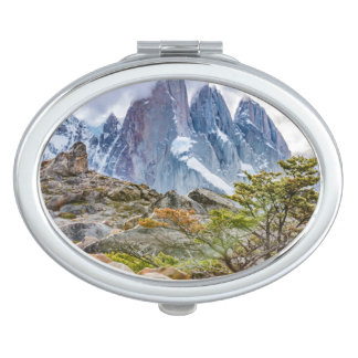 Snowy Mountains at Laguna Torre El Chalten Argenti Mirror For Makeup