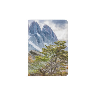 Snowy Mountains at Laguna Torre El Chalten Argenti Passport Holder