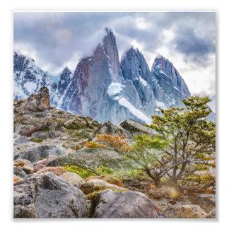 Snowy Mountains at Laguna Torre El Chalten Argenti Photo Print