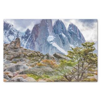Snowy Mountains at Laguna Torre El Chalten Argenti Tissue Paper