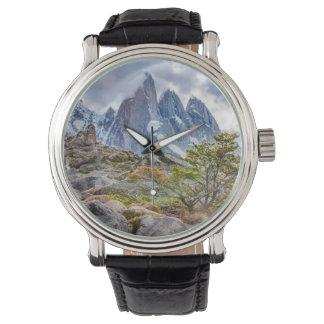Snowy Mountains at Laguna Torre El Chalten Argenti Wristwatches