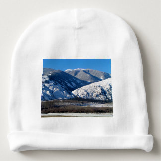 Snowy Mountains in BC Canada Baby Beanie