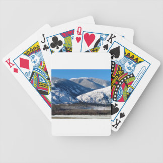 Snowy Mountains in BC Canada Bicycle Playing Cards