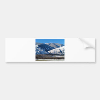Snowy Mountains in BC Canada Bumper Sticker