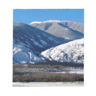 Snowy Mountains in BC Canada Notepad