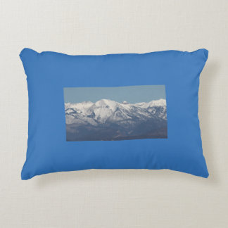Snowy Mountains in Colorado Decorative Pillow