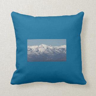 Snowy Mountains in Colorado Throw Pillow