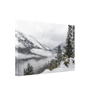 Snowy Mountains in Winter Canvas Print