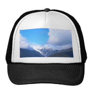 Snowy Mountains, New Zealand Glacier, Aerial View Trucker Hat