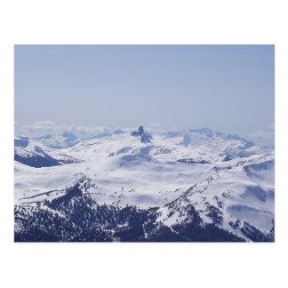 Snowy mountaintop postcard