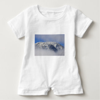Snowy Mountaintop Trees Baby Romper