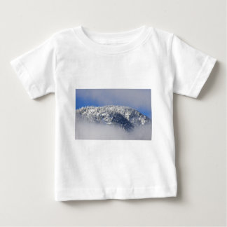 Snowy Mountaintop Trees Baby T-Shirt