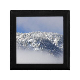 Snowy Mountaintop Trees Gift Box