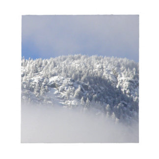 Snowy Mountaintop Trees Notepad