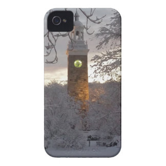 Snowy New England Clock Tower iPhone 4 Cover
