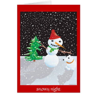 snowy night card