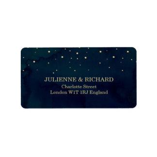Snowy Night Elegant Winter Wedding Address Labels