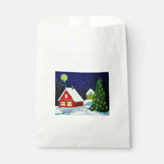 Snowy Night Favour Bag