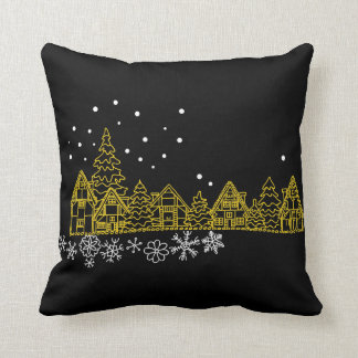Snowy Night Pillow