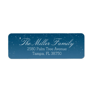 Snowy Night Return Address Label