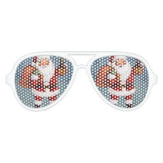 Snowy Night Watercolor Santa Aviator Sunglasses