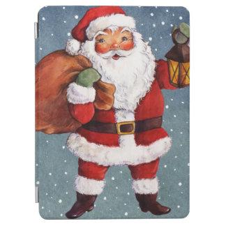 Snowy Night Watercolor Santa iPad Air Cover