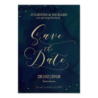 "Snowy Night    Winter Wedding Save the Date 3.5"" X 5"" Invitation Card"