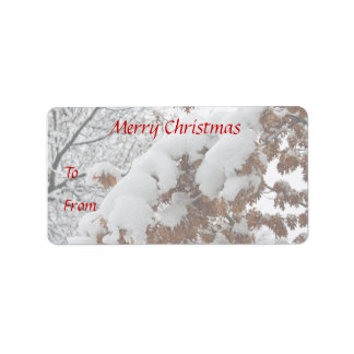 Snowy Oak photo Christmas gift tags