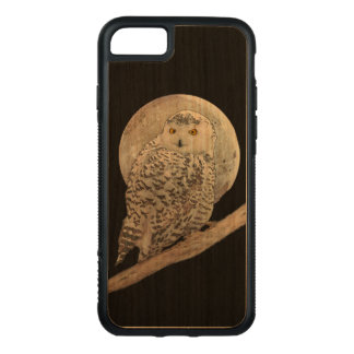 Snowy Owl and Moon Carved iPhone 8/7 Case