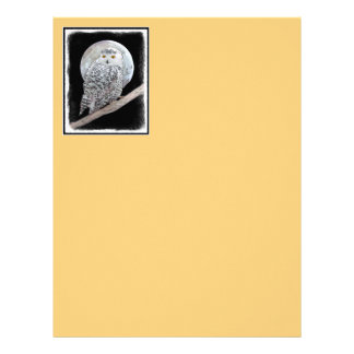 Snowy Owl and Moon Letterhead