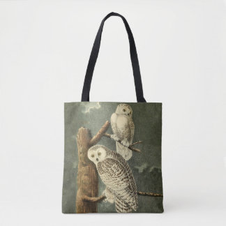 Snowy Owl Audubon Bird Art Illustration Artwork Tote Bag