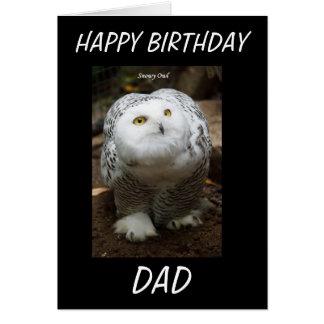 SNOWY OWL BIRTHDAY CARD
