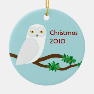 Snowy Owl Christmas 2010 Ornament