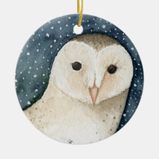 Snowy Owl Christmas Ornament