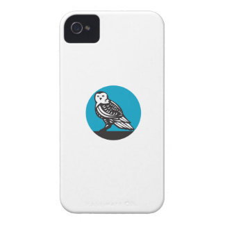 Snowy Owl Circle Retro iPhone 4 Covers