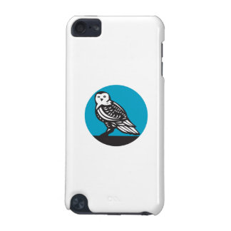 Snowy Owl Circle Retro iPod Touch (5th Generation) Case