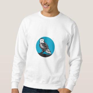 Snowy Owl Circle Retro Sweatshirt