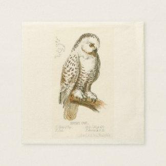 Snowy Owl Disposable Napkins